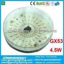 CE RoHS UL TUV GS aprobado, gx53, 4.5w, luz puntual led