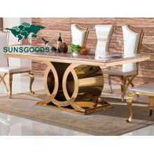 2021 China Hot Sale Marble Top Simple Dining Furniture Tables