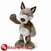 Juguete de peluche de color gris lobo