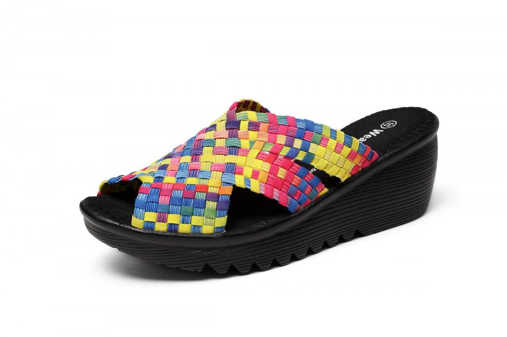 Colorful Woven Slippers