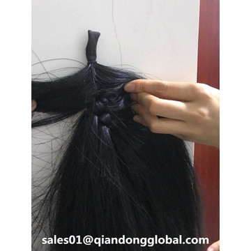 90cm Black False Horse Tail Hair te koop