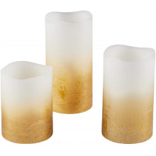 Best selling unit pack 3 battery operated pillar led candles with flicker flameless