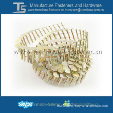 Galvanized 15 Degree Wire Coil Roofing Nails for Coil Nail