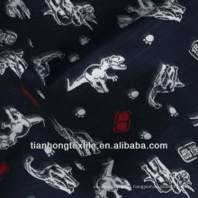 Woven Cotton Jacquard Animal Indian Printed Black Color Fabric