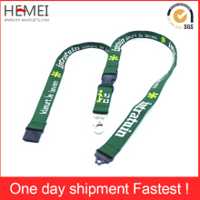 Ribbon Customized Fashion Flat Weave Lanyard