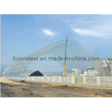 120m Span Smart Design Steel Structure Space Truss Warehouse Building