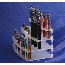 Montres d'affichage acryliques Ecig transparentes de haute qualité
