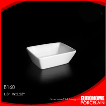 The factory wholesale square series white china small sauce boat