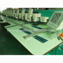 Chenille de 18 cabezas / máquina del bordado de la puntada de cadena industrial