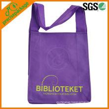 Picture printed fashion reusable shopping long strap pp non woven bag