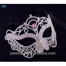 Masque de masque de cristal rose de fantaisie, mascarade de mascarade de princesse