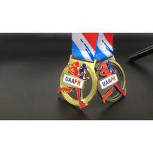 Maratón de premio de deportes de aleación de zinc 3D oro antiguo corriendo medallas y trofeos de China