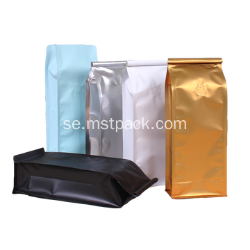 Flat Bottom Coffee Bags med Hidden Zipper