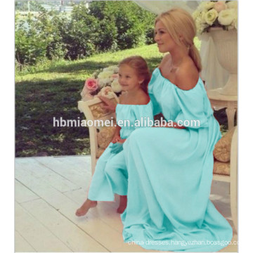 Wholesale mommy and me dresses cotton mother and daughter matching dress