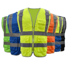 Knitted fabric hiviz safety reflective vest for worker