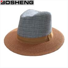 Unisexe Summer Beach Trilby Fedora Straw Sun Hat