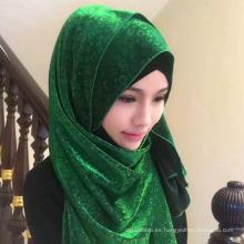 El diseño de la manera multi-color venta caliente mujeres musulmanas musulmán hijab bufanda dubai bufanda mercado