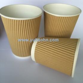 12oz Brown Kraft Ripple Cups