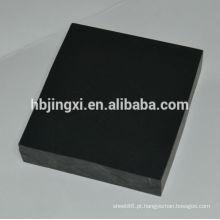 Folha de PVC rígida preta