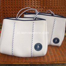 Tas pantai Pukulan Neoprene White Ladies