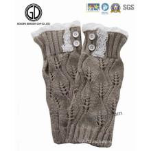 Trendy Lady Lovely Winter Warm Lace Strick Knit Handschuhe