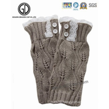 Trendy Lady Lovely Winter Warm Lace Knitted Knit Gloves