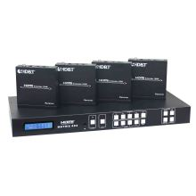 HDMI UTP Matrix 4X4 with Simultaneous Cat and HDMI Outputs up to 100m Supports RS232 and Edid Control