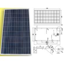 El panel cristalino polivinílico solar del módulo de PV de 18V 120W 125W 130W con TUV aprobó