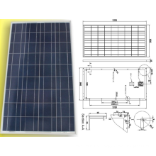 18V 120W 125W 130W Solar Poly Crystalline PV Module Panel with TUV Approved