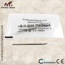 10G Sharp Body Piercing Needles