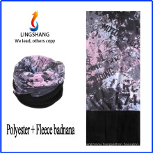 LINGSHANG wholesale custom polar fleece multifunctional bandana