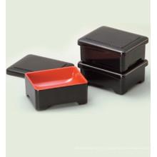 Boite à Bento Mélamine / Boîte à Riz Duotone / Vaisselle en Mélamine (ccB05S)