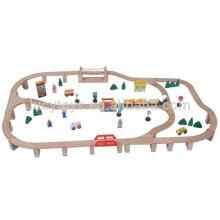 90pcs trem de madeira conjunto brinquedos de trem popular para a criança