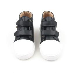 hard sole kids black shoes