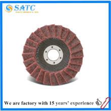 low price hot sale 4.5 inch abrasive non-woven cloth flap disc for polishing