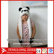 Sombrero lindo y encantador del invierno del bebé de la felpa de la cara de PANDA de la alta calidad