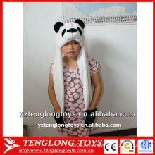 Высокое качество милый и прекрасный PANDA лицо плюшевые baby зимняя шапка