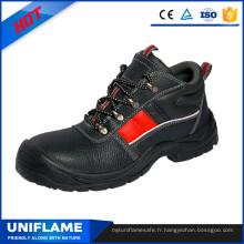Hommes Chaussures de sécurité en cuir à embout en acier Ufa074