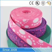 Kundengebundener bequemer PVC überzogener Gurtband-flexibler Nylongewohnheit Druck-Logo-Hundeleine