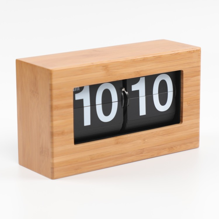 Small Wood Flip Clock