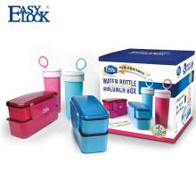 Коробка обеда защитных калиток с бутылкой воды набор