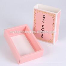 Benutzerdefinierte prink Schublade Stil Geschenkbox Unterwäsche Paket