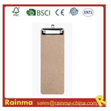 Personalizado 29 * 12 Cm Tamanho Prancheta de madeira com clip plano