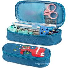 Wholesale Custom Cute Big Capacity Durable Kids Children School Pencil Case Pencil Bag with Zipper
