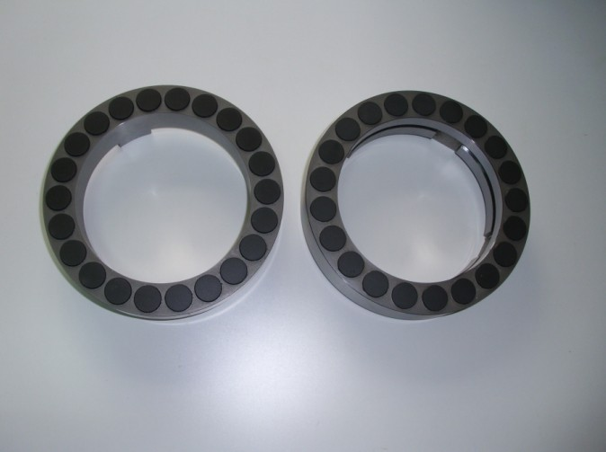 PDC thrust bearing