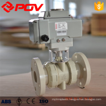 dn100 flanged 24v electric ball valve plastic