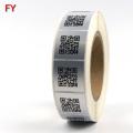 Custom waterproof paper qr code roll vinyl sticker paper