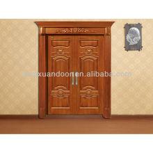 Porta principal da entrada da casa de campo, porta de madeira personalizada