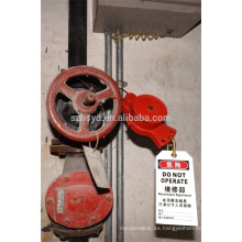 Aprobar CE longitud 1,8 m y cable de diámetro 5 mm ABS cerraduras de bloqueo de seguridad industrial