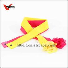 Красочный дизайн с цветочной пряжкой Леди Модный эластичный пояс